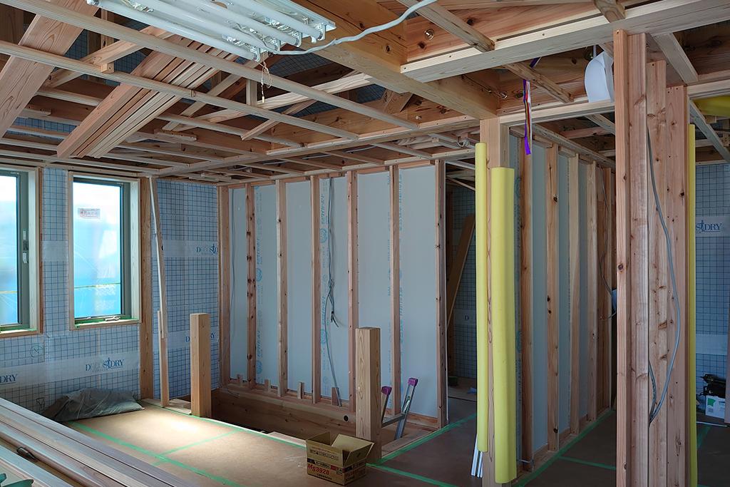 姫路市の木の家 大工工事