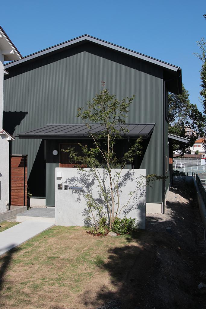 明石市の木の家 完成外観