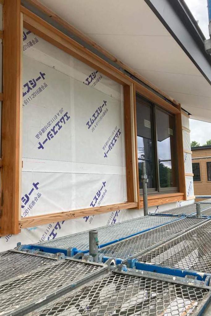 川辺郡の木の家 窓枠