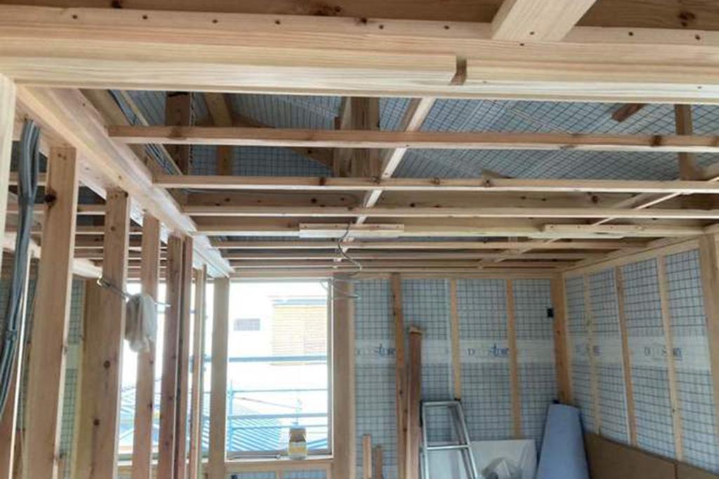 川辺郡の木の家 大工工事