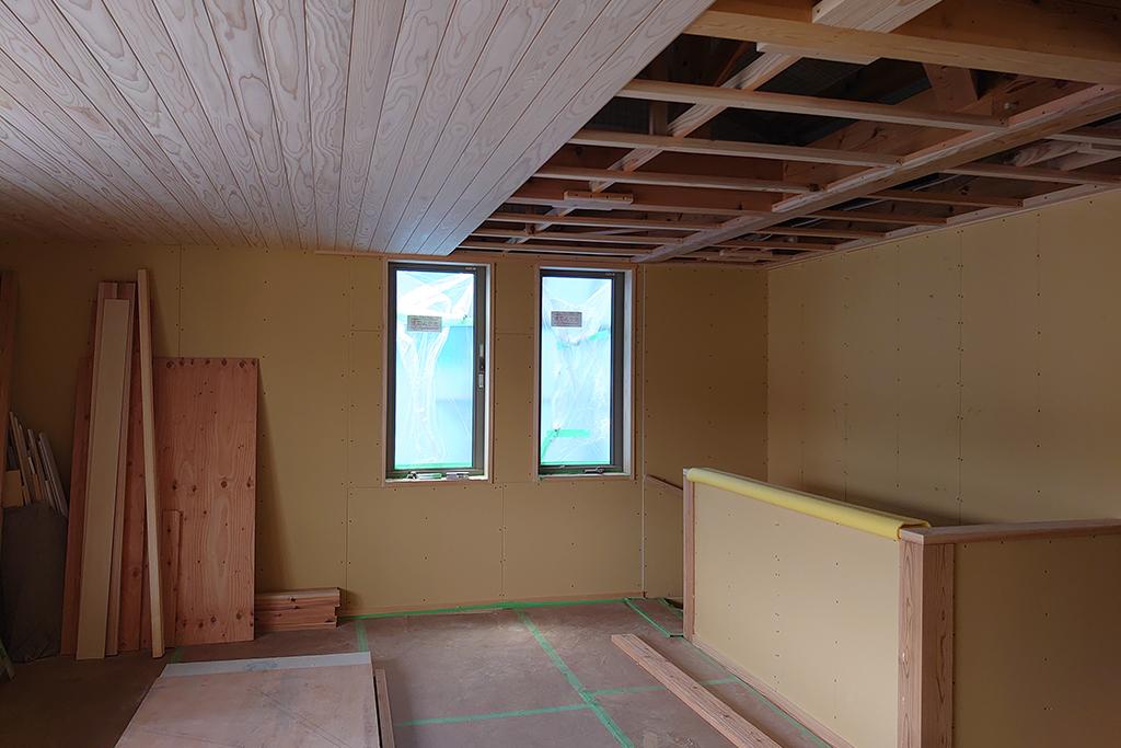 姫路市の木の家 天井板