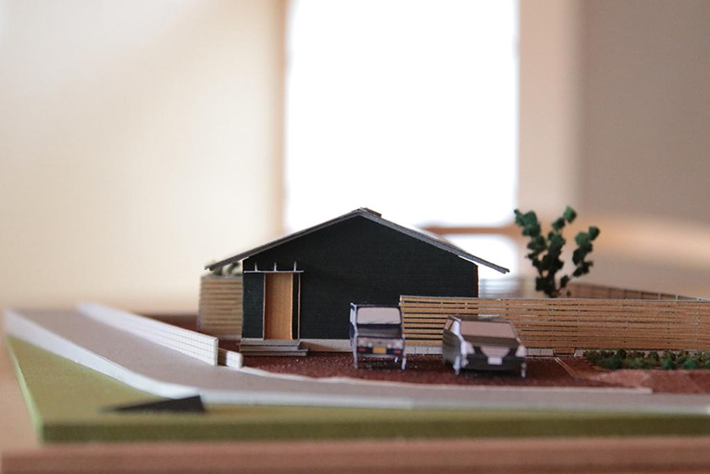 神崎郡の木の家 模型