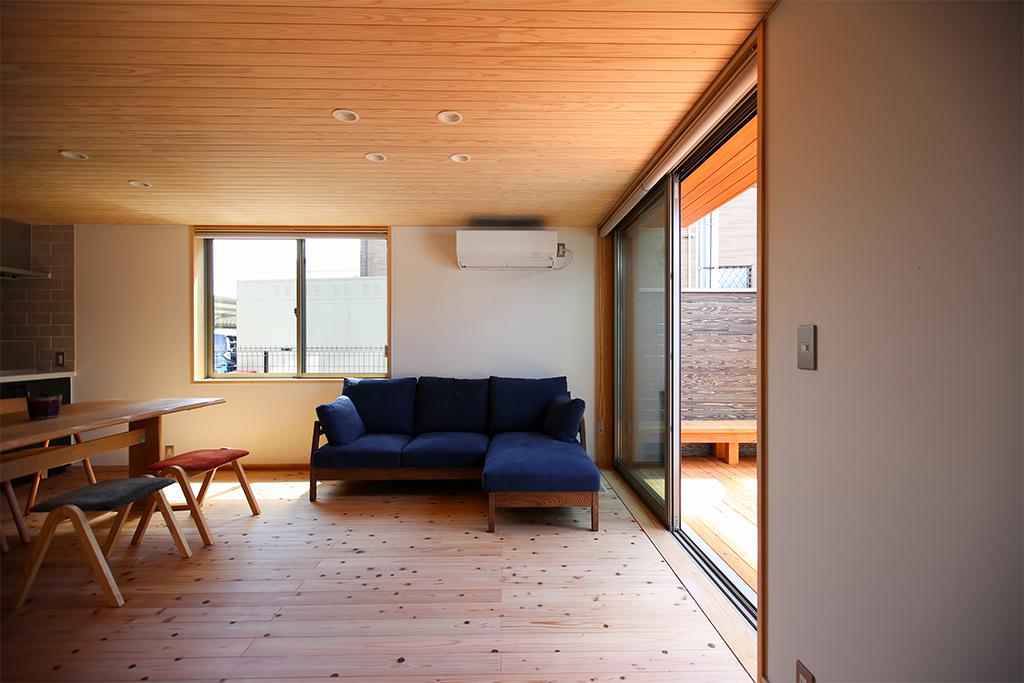 加東市の木の家 リビング