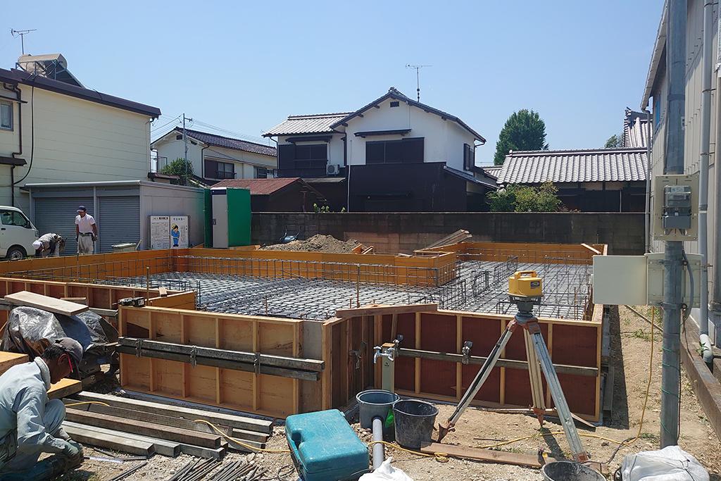 加古川市の木の家 基礎配筋