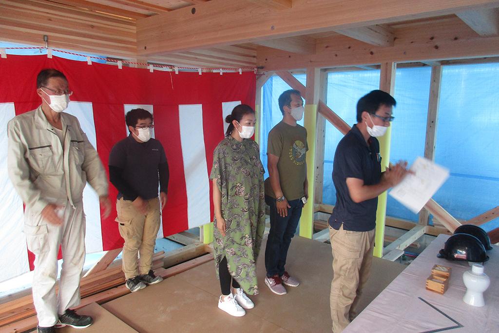 加古川市の木の家 上棟式