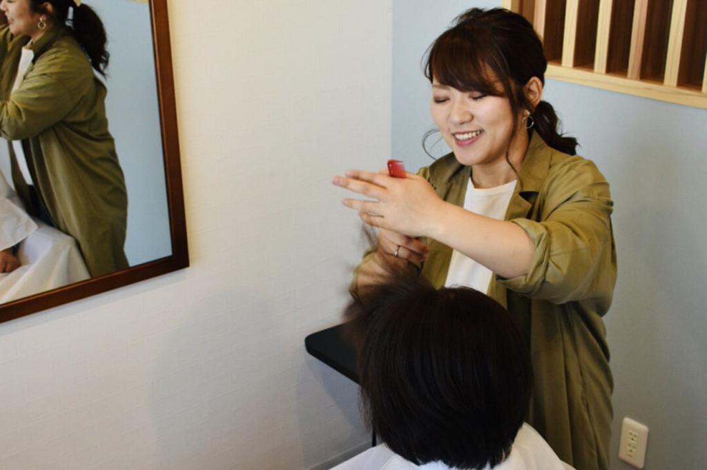 たつの市誉田町Hair Make Re StaRt施術