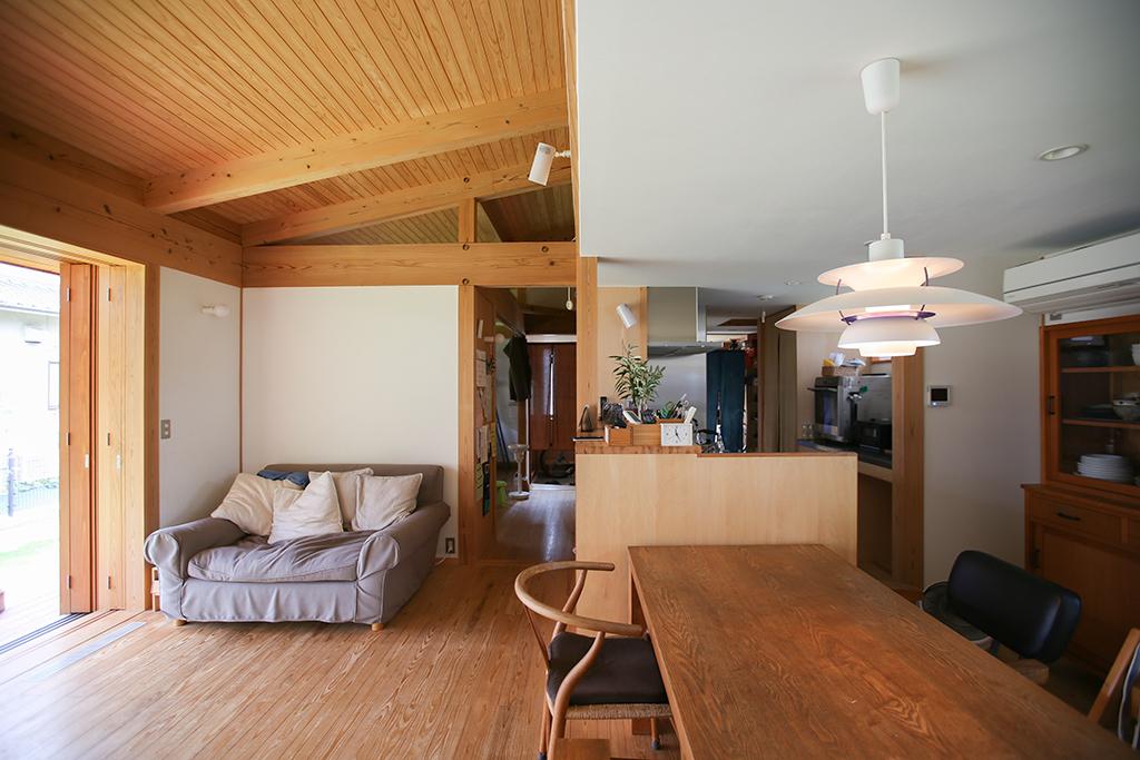 神戸市の木の家 ひとつながりのLDK
