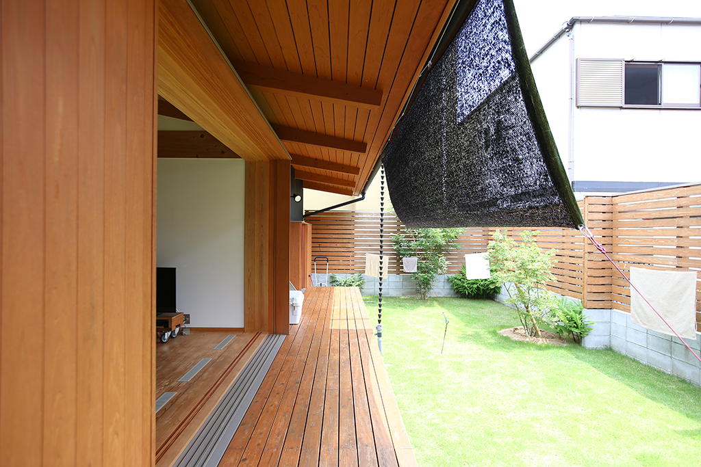 神戸市の木の家 ウッドデッキ