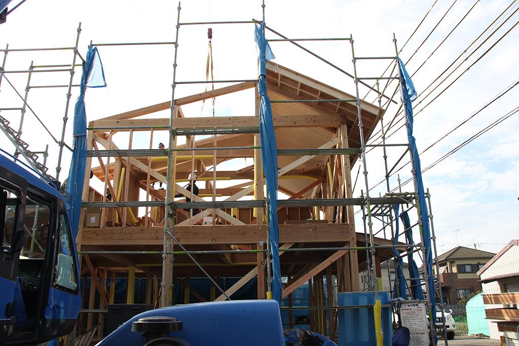 加古川市の木の家 上棟
