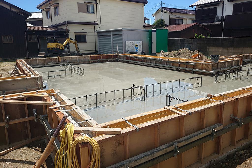加古川市の木の家 基礎型枠