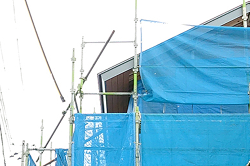 加古川市の木の家 軒天はり