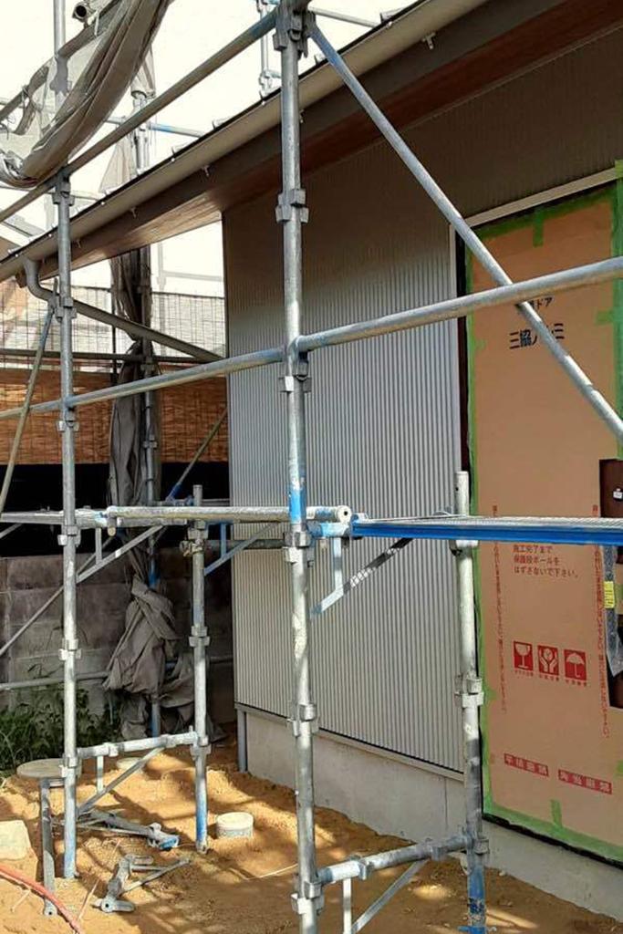 川辺郡の木の家 離れ外壁工事