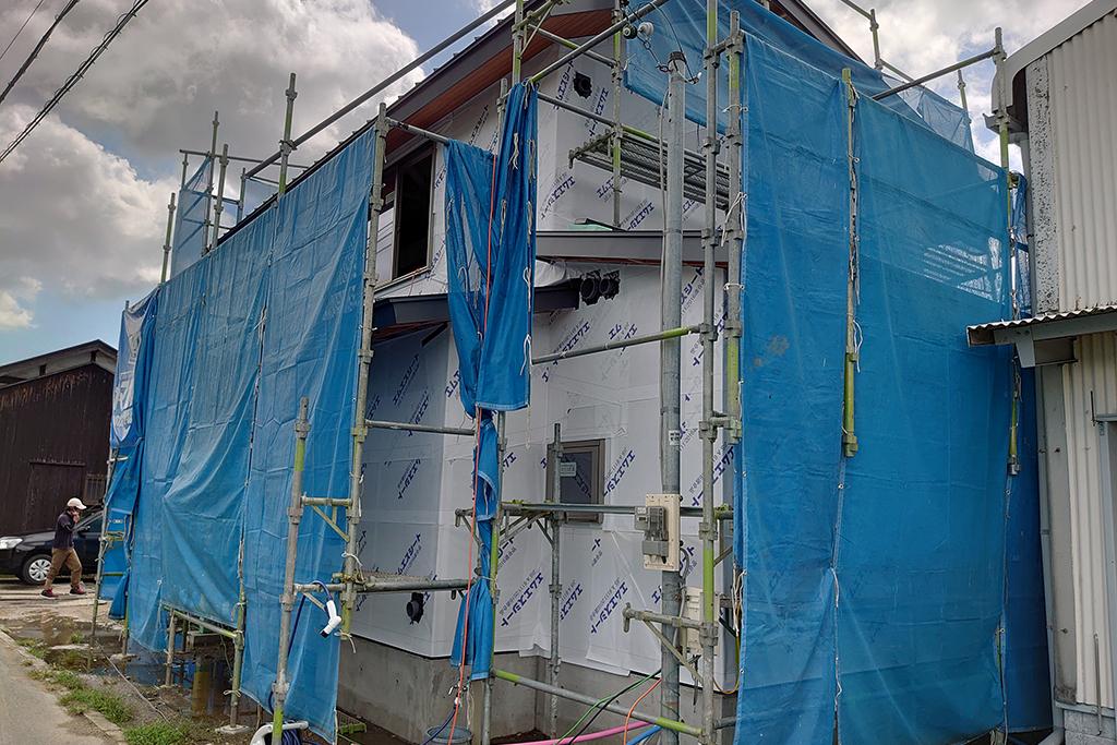加古川市の木の家 透湿防水シート