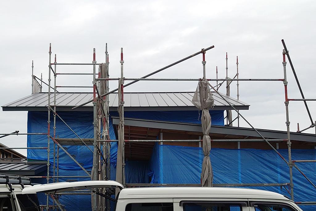 姫路市の木の家 屋根工事