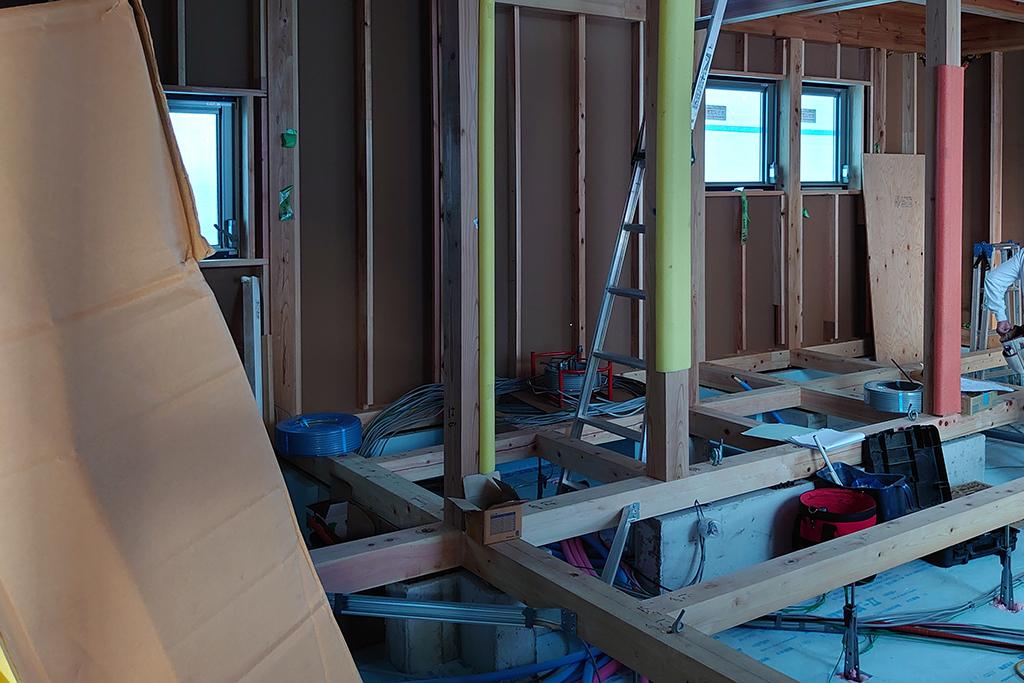 姫路市の木の家 床下断熱材
