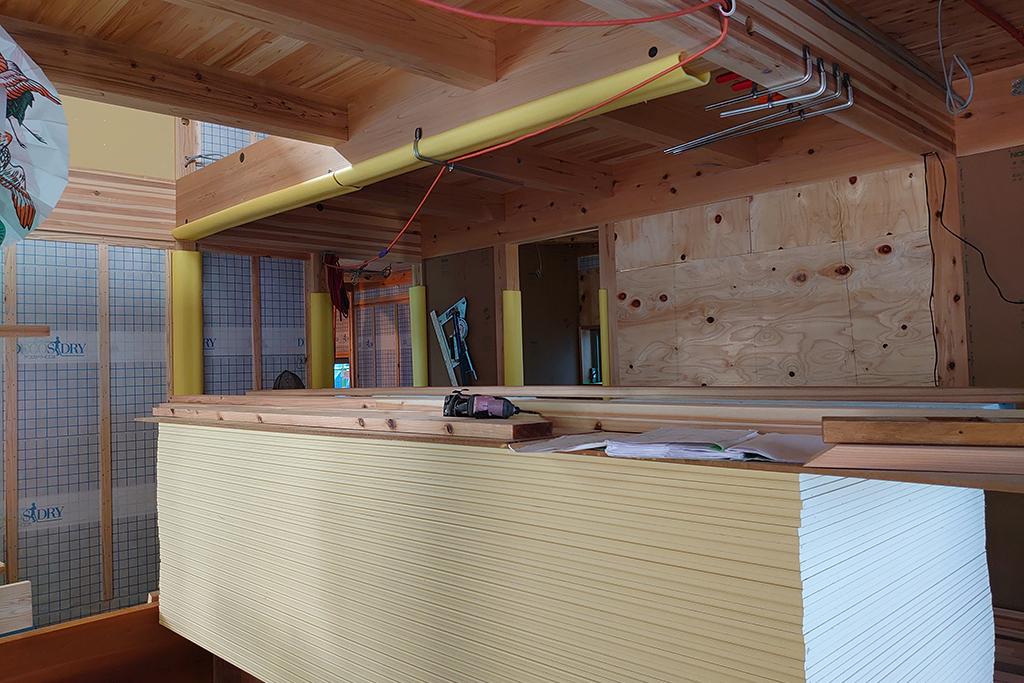 加古川市の木の家 大工工事