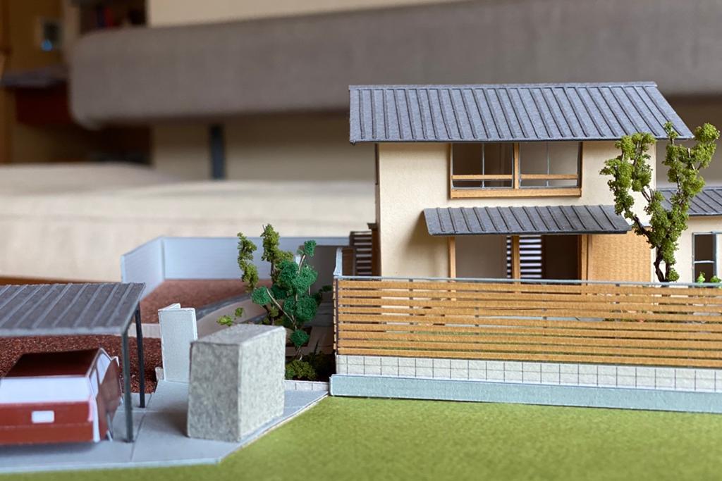 姫路市の木の家 プレゼン模型