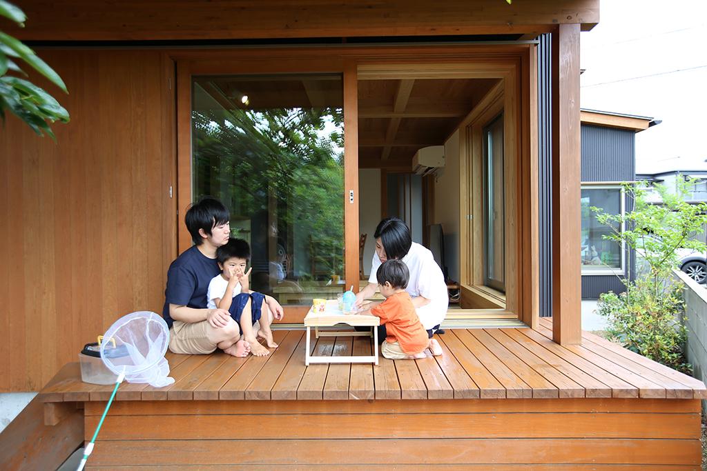 神崎郡福崎町の木のお家 ウッドデッキ