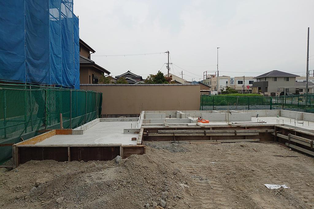 姫路市の木の家 基礎完成