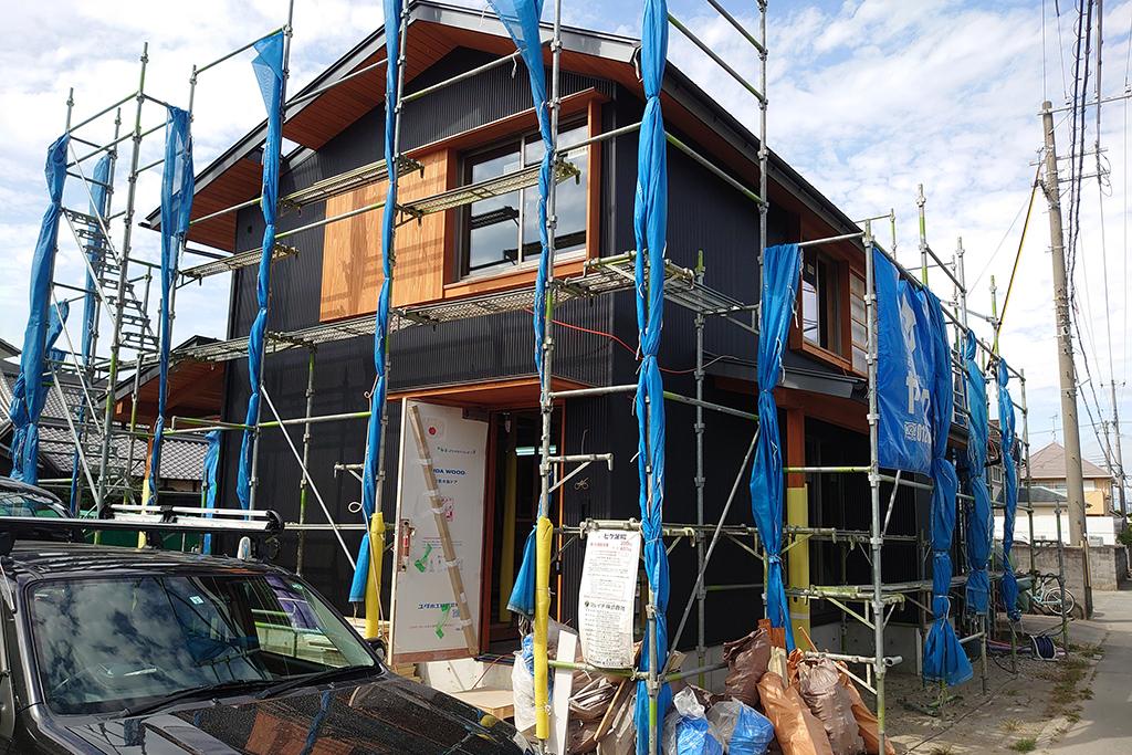 加古川市の木の家 外壁工事